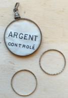 PENDENTIF EN ARGENT ET 2 ALLIANCES Avec Sa Pochette HERMELINE Horloger Joaillier 16 Rue DUBAN PARIS XVI - Bagues