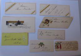 8 Tischkärtchen, Glückwunschkärtchen,  1900-1914 ♥  - Non Classés