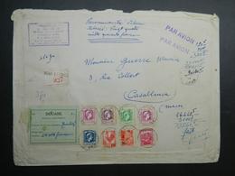 Algérie 1944 3 Enveloppes Lettres Bureaux Français - Storia Postale