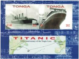 Tonga 2012 _ Perforated _ TITANIC - 100th Anniversary Of Disaster - MNH ** - Tonga (1970-...)