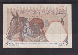 AOF French West Africa 25 Fr 1942   XF - Stati Dell'Africa Occidentale