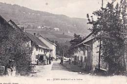 CPA : Jussy Andilly  (74) Le Village Et Le Salève    Belle Animation    Ed  Pittier N° 517 - Sonstige Gemeinden