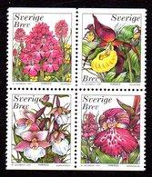 SUEDE 1999 - YT 2096/2099 - Facit 2135/2138 - NEUFS ** LUXE/ MNH - Flore, Fleurs, Orchidées - Neufs