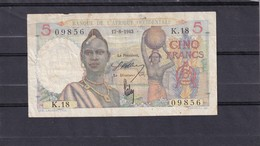 AOF French West Africa 5 Fr 1943  Fine - Stati Dell'Africa Occidentale