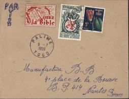 YT République Du Togo 275 + 276 CAD Palime Togo 9 7 1959 + Vignette Lisez La Bible Par Avion Pour La France - Togo (1960-...)