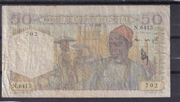 AOF French West Africa 50 Fr 1953  Fine - Stati Dell'Africa Occidentale