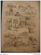 L'EXPOSITION DE PARIS 1889 SUPPLEMENT N° 7 HISTOIRE DE L'HABITATION HUMAINE / CONSTRUCTION EDIFIEES PAR CHARLES GARNIER - Newspapers