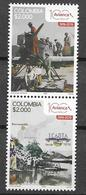 COLOMBIA, 2019, MNH,TRANSPORT, PLANES, 100th ANNIVERSARY OF AVIANCA AIRLINES, 2v - Airplanes