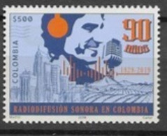 COLOMBIA, 2019, MNH,RADIO, RADIO BROADCASTING, 1v - Other
