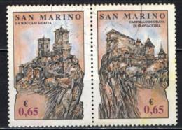 SAN MARINO - 2012 - LA ROCCA O GUAITA A SAN MARINO E CASTELLO DI ORAVA IN SLOVACCHIA - USATI - Saint-Marin