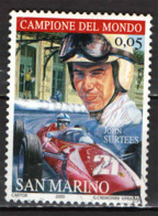 SAN MARINO - 2005 - CAMPIONI DI FORMULA 1: JOHN SURTEES - USATO - Oblitérés