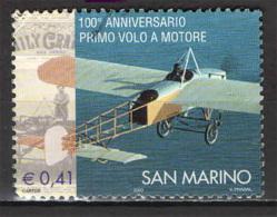 SAN MARINO - 2003 - CENTENARIO DEL PRIMO VOLO A MOTORE - USATO - Oblitérés