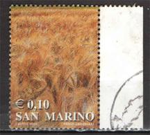 SAN MARINO - 2002 - I COLORI DELLA VITA: IL GIALLO DI UN CAMPO DI GRANO - USATO - Oblitérés