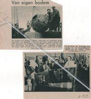 ZEEBRUGGE..1939..DOOPPLECHTIGHEID NIEUWE VISSERSSLOEP Z.54. / ENGELSE MIJN OPGEVIST VAN 881 POND - Vieux Papiers