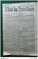 1905 L'ECHO DES TRAVAILLEURS DE L'OUEST - SEPARATION DE L'EGLISE ET L'ETAT - BAGNE D'ENFANTS - Journaux - Quotidiens
