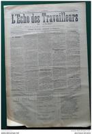 """1905 L'ECHO DES TRAVAILLEURS DE L'OUEST - LIMOGES """" GREVE DES PORCELAINIERS """" - NIORT - PARTHENAY - PAMPLLIE - Newspapers"""