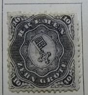 ALLEMAGNE Breme  1861-66 Y&T N°14, 10 Gr. Noire - Neuf - Bremen