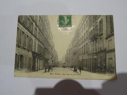 CPA 75 PARIS LA RUE MESLAY (IIIè Arr) Animée 1912 TBE - Arrondissement: 03