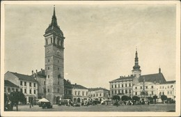 Postcard Wischau Vyškov Partie Innenstadt Bereich, Bus, Stände 1950 - Czech Republic