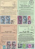 Lot De 4 Ordres De Reexpedition Differents (2 Temporaires + 2 Definitives) - Gironde - PA + Sabine - Voir Scan - Postmark Collection (Covers)