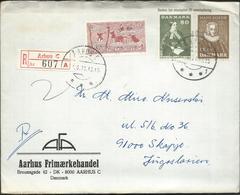 Denmark Registered Lettre/Letter Arhus Via Yugoslavia 1971.nice Stamps Motive - Denmark