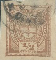 ARGENTINA,1882 CORREUS Y TELEGRAFOS,½C Brown Imperforate USED,Rare - Used Stamps