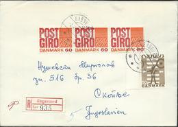 Denmark Registered Lettre/Letter Bagsvaerd Via Yugoslavia 1970.nice Stamps Motive - Lettres & Documents
