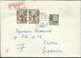 Denmark Registered Lettre/Letter Kobenhavn Via Yugoslavia 1970.nice Stamps Motive - Lettres & Documents