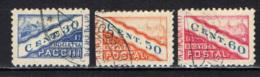 SAN MARINO - 1928 - TIPO A DOPPIA SEZIONE NON DENTELLATI IN MEZZO - USATI - Colis Postaux