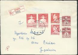 Denmark Registered Lettre/Letter Lyngby Via Yugoslavia 1971.nice Stamps Motive - Denmark
