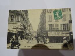 CPA 75 PARIS  - Rue De Bretagne à La Rue De Turenne Très Animée TBE - Paris (03)
