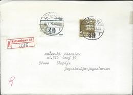 Denmark Registered Lettre/Letter Kobenhavn Via Yugoslavia 1977.nice Stamps Motive - Denmark