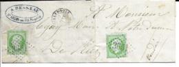 Lac Cad ST GILLES SUR VIE (vendée) 17 Janv 1866  Pour NOTRE DAME DE RIEZ  TTB - Postmark Collection (Covers)