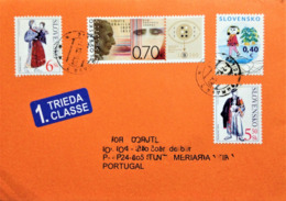 """Slovakia, Circulated Cover To Portugal, """"Famous People"""", """"Louis Braille"""", """"Typical Costumes"""", 2009 - Slowakische Republik"""