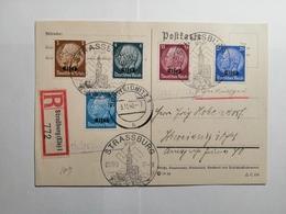 Deutsches Reich  Postkarte Elsass Strasburg 1940 - Germany