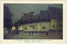 C. P.  PICCOLA    J.J.WALTZ  (HANSI)  VIEILLES MAISONS A  COLMAR    2  SCAN  (VIAGGIATA) - Colmar