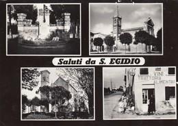 SANT'EGIDIO-FERRARA-SALUTI DA-INSEGNA BIRRA =PEDAVENA=RIVENDITA=SALI E TABACCHI=-CARTOLINA FOTO-VIAGGIATA IL 7-7-1958 - Ferrara