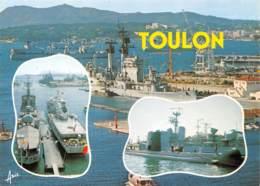 TOULON  Le Port  Navires De Guerre Et Sous Marin 35 (scan Recto Verso)MF2794VIC - Toulon