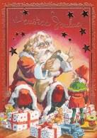 Santa Claus Reading A Letter To Elf - Brownie - Gnome - Raimo Partanen - Kerstmis