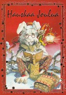 Rabbit - Hare Reading A Book - Mouse Holding Candle Votive - Raimo Partanen - Christmas