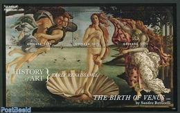 Grenada 2013 History Of Art, Early Renaissance 3v M/s, (Mint NH), Art - Paintings - Grenade (1974-...)