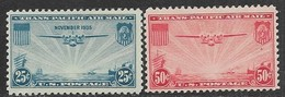 US  1935-7  Sc#C20, MNH, C22 50c Airmail MLH   2016 Scott Value $12.40 - Aerei