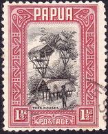 PAPUA 1932 KGV 1½d Black & Lake SG132 FU - Papua New Guinea