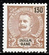 !■■■■■ds■■ Inhambane 1903 AF#26* King Carlos Mouchon 130 Réis (x0974) - Inhambane