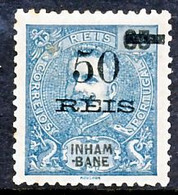 !■■■■■ds■■ Inhambane 1905 AF#31* King Carlos Surcharged 50 Réis (x0308) - Inhambane