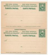 PARAGUAY - Entier Carte Postale Double Avec Réponse Payée 2 Centavos - Paraguay