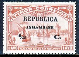 !■■■■■ds■■ Inhambane 1913 AF#64(*) Vasco Da Gama On Timor 1/2 (x12893) - Inhambane