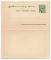 PARAGUAY - Entier Postal - Carte Lettre 2 Centavos Vert - Paraguay
