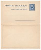 PARAGUAY - Entier Postal - Carte Lettre 3 Centavos Bleu - Paraguay