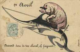 1er Avril Cochon Sur Un Espadon Descend Donc De Ton Cheval ,eh Feignant - April Fool's Day